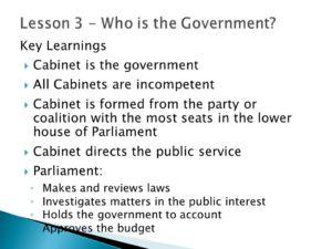 Slide lists key learnings in dot points